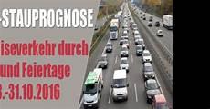 Adac Stauprognose Aktuell Am 31 10 2016 Stau Gefahr Wegen