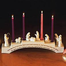 nativity figure advent wreath candle holder up