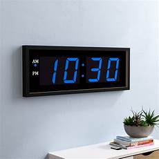 symple stuff giant 8 quot numbers led wall clock with remote