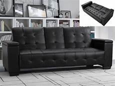 sofa cama negro sof 225 cama 3 plazas piel sint 233 tica negro o marfil devonshire