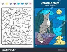 wood animals coloring pages 17194 wood animals coloring page wolf stock vector 460819684