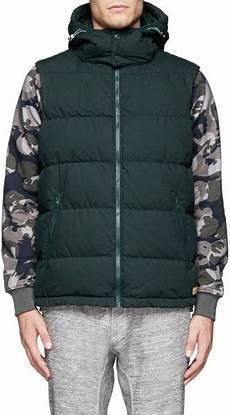 scotch soda detachable gilet vest in green for