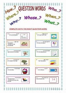 worksheets question words 18435 question words worksheet free esl printable worksheets made by teachers
