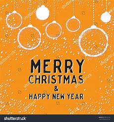greeting card bauble orange merry
