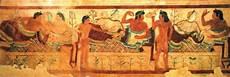 banchetto etrusco mostra a tavola con gli etruschi di marzabotto