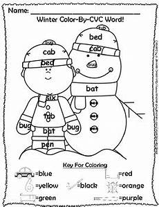winter cvc worksheets 19980 winter color by cvc word phonics approach to color by number