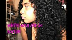 wash and go routine for winter wash go routine moisturized curls youtube