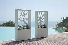 brise vue design jardin brise vue design avec silhouette d arbre en acier blanc ou