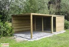 plan abris bois abri de jardin bois exterior 350x350x230 abri de