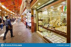 the gold souk or market in dubai city deira united arab