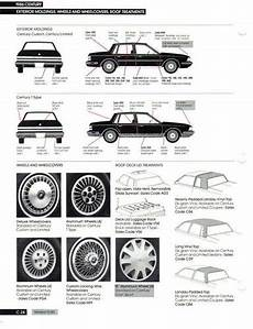 old car manuals online 1986 buick century instrument cluster 1986 buick marketing manual information pages century gs