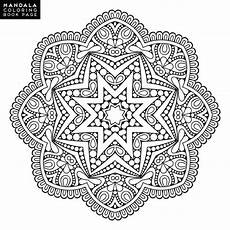 rosace orientale dessin outline mandala for coloring book decorative