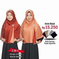 Beli Sekarang Jilbab 2 Warna Fashion Muslim Terbaru Wanita