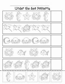 sea animals worksheets for preschoolers 14123 animal worksheet 1 pattern worksheets for kindergarten animal worksheets patterning