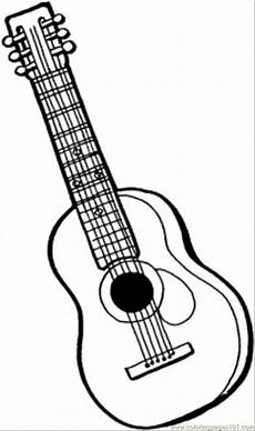 coloring pages 6 string guitar entertainment