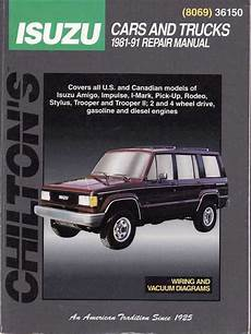 book repair manual 1999 isuzu trooper transmission control isuzu pick ups trooper holden jackaroo rodeo petrol 1981 1993 sagin workshop car manuals