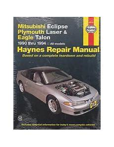 how to download repair manuals 1994 plymouth laser electronic toll collection 1990 1994 mitsubishi eclipse plymouth laser talon haynes manual