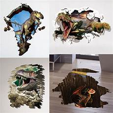 3d sticker 3d dinosaur floor wall sticker removable mural decals