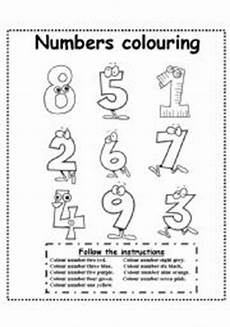 colors and numbers worksheets 18744 numbers colouring esl worksheet by esti1975