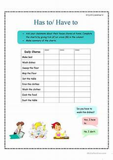 has to have to worksheet free esl printable worksheets made by teachers
