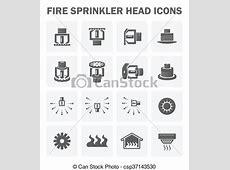 Vectors of Fire sprinkler icon   Fire sprinkler head icon