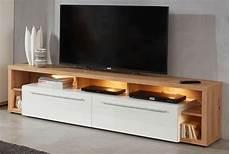 Tv Lowboard Fernsehtisch Wei 223 Hochglanz Ast Eiche Tv