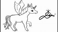 Einfache Malvorlage Einhorn Pin By Deni Zeichnet On Einhorn Bilder Einhorn Zeichnen