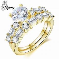hiyong dainty bridal wedding ring of 2pcs and