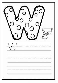 letter w worksheets for pre k 23711 letter w worksheet for preschool and kindergarten preschool crafts