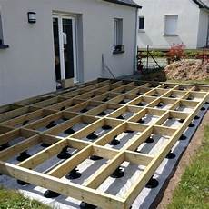 structure terrasse bois structure terrasse bois fabrication comment structure