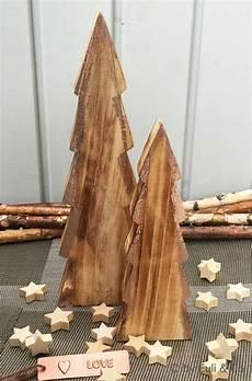 Deko Tannenbaum Holz - 2 formsch 246 ne tannenb 228 ume aus holz zum hinstellen die