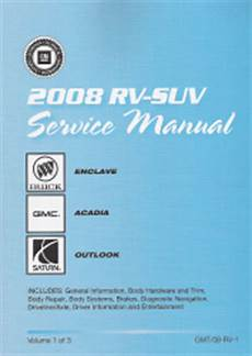 2008 buick enclave gmc acadia saturn outlook factory service manual