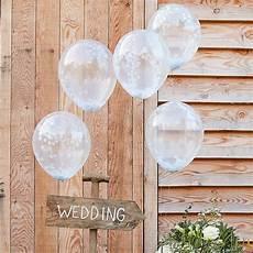 ballons mit konfetti ballons mit konfetti wei 223 5 st weddix de