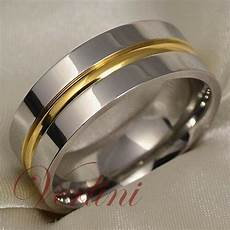 men s titanium ring 14k gold wedding band comfort fit verlini jewelry size 6 13 ebay
