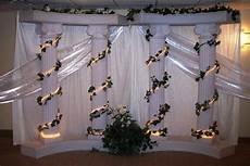 wedding decoration ideas with columns wedding columns decoration ideas elegant pillar 6 column with fanned draping wedding