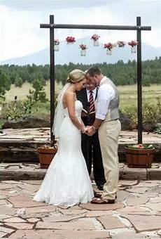 rustic chic wedding with our diy wedding arch arch at the