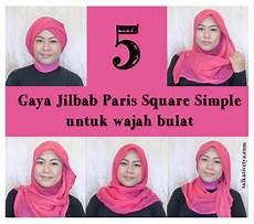 Tutorial 5 Gaya Jilbab Square Simple Dan Cantik