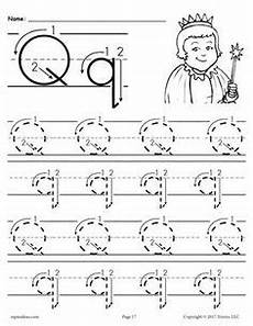 printable letter q tracing worksheets for preschool word