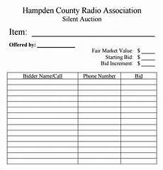ticket bid silent auction bid sheet template 10 free sles exles