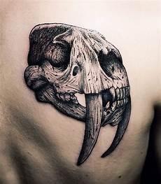 stunning 3d realistic animal skull on shoulder
