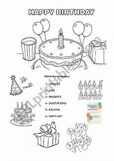 happy birthday worksheets esl 20219 happy birthday esl worksheet by lisbethml