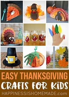 easy thanksgiving crafts for kids to make happiness is homemade