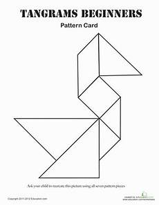Tangram Kinder Malvorlagen Pdf Easy Tangrams Puzzle 1 Worksheet Education