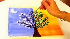 pintar arbol de dia y noche day and tree youtube