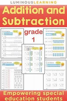 subtraction visual worksheets 10304 grade 1 addition subtraction workbook math visual addition subtraction math