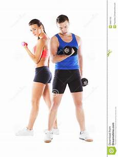fitness male and female athletic man and woman stock photo image of muscle