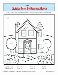 color by number division worksheet 16120 coloring pages color by number house printable division worksheets division color by number