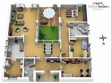 bungalow grundriss mit einem atrium haus einrichtung