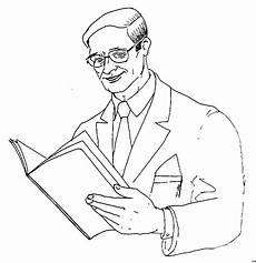 mann mit brochuere ausmalbild malvorlage menschen