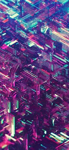 Neon Retro Cyberpunk Wallpaper by Atelier Olschinsky Neon Cities Graphic Vaporwave